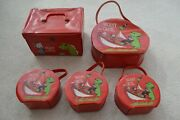 Beany And Cecil 1961 Purse Lunch Box Set Of 5 - Used