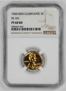 1960 Ddo Proof Lincoln Memorial Cent 1c Lg/sm Date Fs-101 Ngc Pf 68 Rd Unc 041