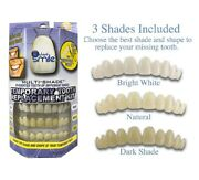 Instant Smile Multi-shade Temporary Replacement Teeth Kit 3 Shades 30 Teeth