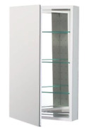 Robern Plm2030wre Pl-series Right-side Flat Mirror Medicine Cabinet With Outlet,