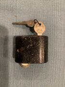 Nos 30and039s 40and039s 50and039s Gm Spare Tire Lock With Two Gm Keys And Special Lug Nut