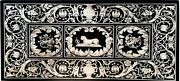 30 X 72 Inch Marble Hallway Table Top Black Inlay Dining Table Exclusive Design