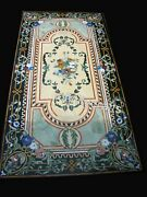 30 X 60 Inches Marble Hallway Table Top Vintage Art And Crafts Dining Table