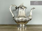 Silver Ornate Teapot By Samuel Haynes And Dudley Carter London 1847 - 984g