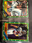 Bbce.1986 Topps Football Rack Pack Mint Steve Young Rc Top And Reggie White Back