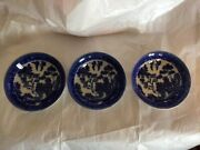 Set Of Three Blue Willow Vegetable Dishes
