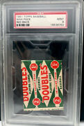 Low Pop 24 Exist 1951 Topps Baseball Wax Pack Red Back Psa 9 - 1st Topps Issue