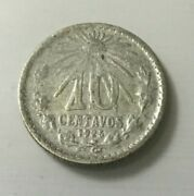1925/3 10 Centavos Variety Silver Mexico Mint Coin Two Die Breaks Obverse Lot B