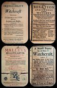 Medieval Witchcraft Print Collection On Fine Antique Parchment Paper Halloween