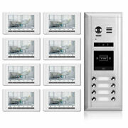 Video Intercom Entry System Dk1781s - 8 Apartment Audio/video Kit 8 Monitors In