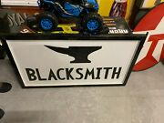 Vintage Hand Painted Wooden Blacksmith Shop Sign 47 X 27 Gas Oil Soda Cola