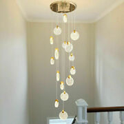 Customized Led Bubble Crystal Stairs Pendant Lamp Living Room Ceiling Lighting