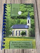 Richwood Ohio Community United Calvary Church Willing Workers Cook Book