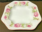 Antique Altrohlau Stamped Mz Austria Floral Roses Plate Art Piece Early 1900s