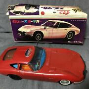 Ichiko Toyota 2000gt Sports Car Tin Toy Vintage Mini Car Rare Kazuhiro Sticker