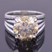 Rare 14.95 Ct Certified Champagne Diamond Menand039s Ring Amazing Shine And Bling