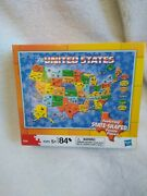 New Milton Bradley Junior Jigsaw Puzzle Map Of The United States Factory Sealed