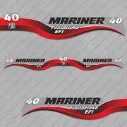 Mariner 40 Hp Four Stroke Efi Outboard Engine Decals Sticker Set Reproduction