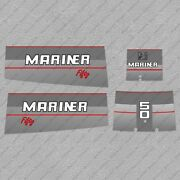 Mariner 50hp Fifty Two Stroke Outboard Engine Decals Sticker Set Reproduction