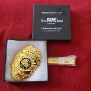 Bam Box Stranger Things Chief Hopper Badge Replica Dark Matter Props With Tag