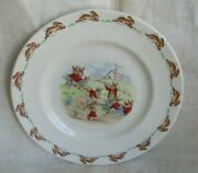 Vintage Royal Doulton Made In England-bunnykins-8 Youth Plate See Saw