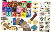 Sealing Wax Kit, 650pcs Wax Letter Seal Kit With 24 Colors Wax Seal Beads,