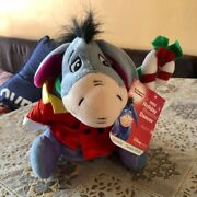 Authentic Vintage Deadstock 2002 Eeyore Christmas Musical Plushy W Tags