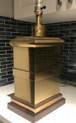 Vintage Frederick Cooper Brass Oriental Tea Caddy Chinoiserie Chic Table Lamp