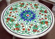 36 Malachite Lapis Inlaid Marble Top Dining Table Online Furniture Decor H4974a