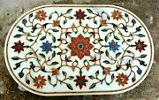 36 X 48 Inches Conference Table Top Semi Precious Stone Inlaid Dining Table Top