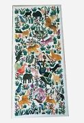 30 X 60 Inches White Dining Table Top Animal Pattern Inlaid Hallway Table