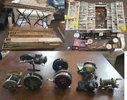 Large Fishing Lot - Reels, Poles, Lure, Box And More