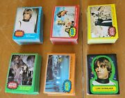 1977 Star Wars Trading Cards Complete Set 1 - 330 And Stickers 1 - 55