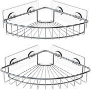 Smartake 2-pack Corner Shower Caddy, Sus304 Stainless Steel, Wall Mounted Bathro