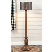 Primitive Country Farmhouse Brinton House Floor Lamp In Rustic Brown With Shade