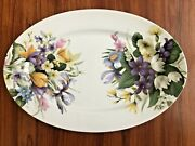 Bill Goldsmith Narcissus Limoges China 14andrdquo Oval Serving Platterrareout Of Prod