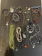 Sterling Silver 925 Jewelry Lot With Stones Wear Or Scrap 444g