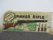 Nos 1950's Louis Marx Spinner Rifle 25.5 Toy Action Balanced Repeating Cap