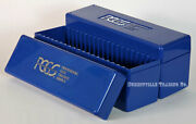 Lot Of 2 Pcgs Original Blue Storage Boxes - Each Stores 20 Graded Slabbed Coins