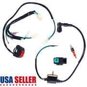 5 Kill Switch Wiring Loom Harness Ignition Coil Cdi Spark Plug For Pit Dirt Bike