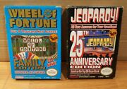 Nintendo Nes Lot Of 2 Wheel Of Fortune Family Edition Jeopardy 25th Edition Cib