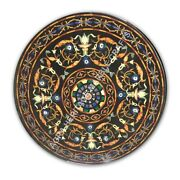 36 Exclusive Marble Dining Center Round Table Tops Marquetry Inlay Decor E1081