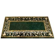 Green Marble Dining Room Table Top Pietra Dura Inlay Design Furniture Gift E588