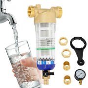 Water Pre-filter System/whole House Spin Down Sediment Water Filter 3/4 Inch