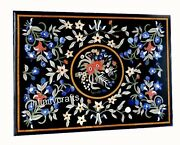 36 X 48 Inches Black Marble Dining Table Heritage Art Inlaid Kitchen Table Top
