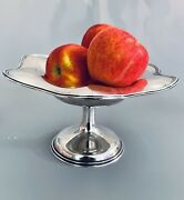 Towle Silversmith Large 6 Sterling Silver Scalloped Pedestal Centerpiece Bowl
