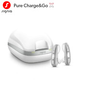2 New Signia Siemens Pure Chargeandgo X 7 / 5 / 3 Hearing Aids + Free Charger