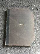 Rare Antique Ambia Book From The Late 1800's Musical Piano Notes
