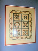 Sarah Rishel Hand Colored Applique Quilt Le Numbered And Signed Ethan Allen