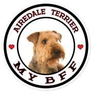 Airedale Terrier My Bff Color Sticker